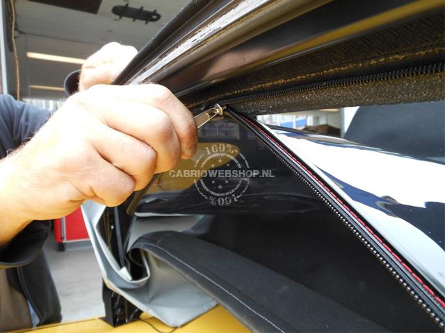 Plastic raam cabrio vervangen